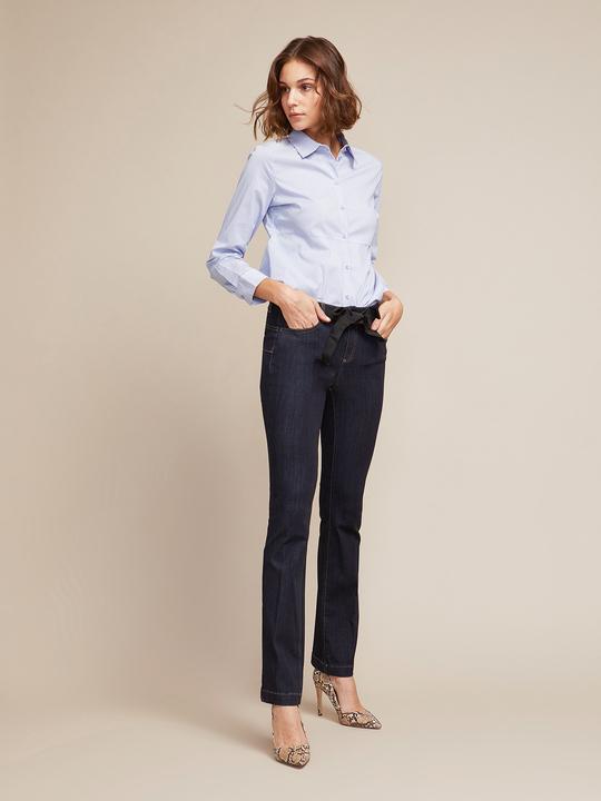 Jeans flare con fusciacca gioiello cdbfc50b3194