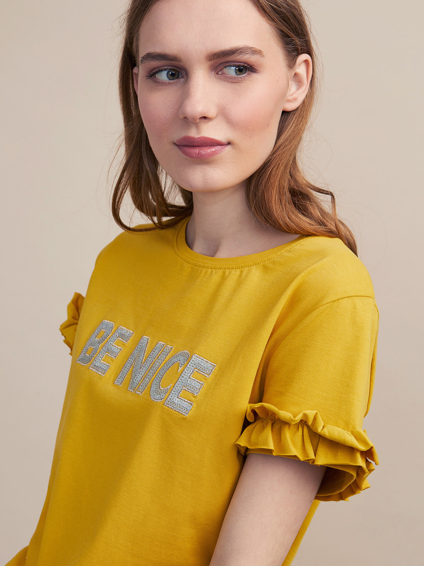 1e950c54f1 T-shirt con ricamo lettering - Oltre.com - FR