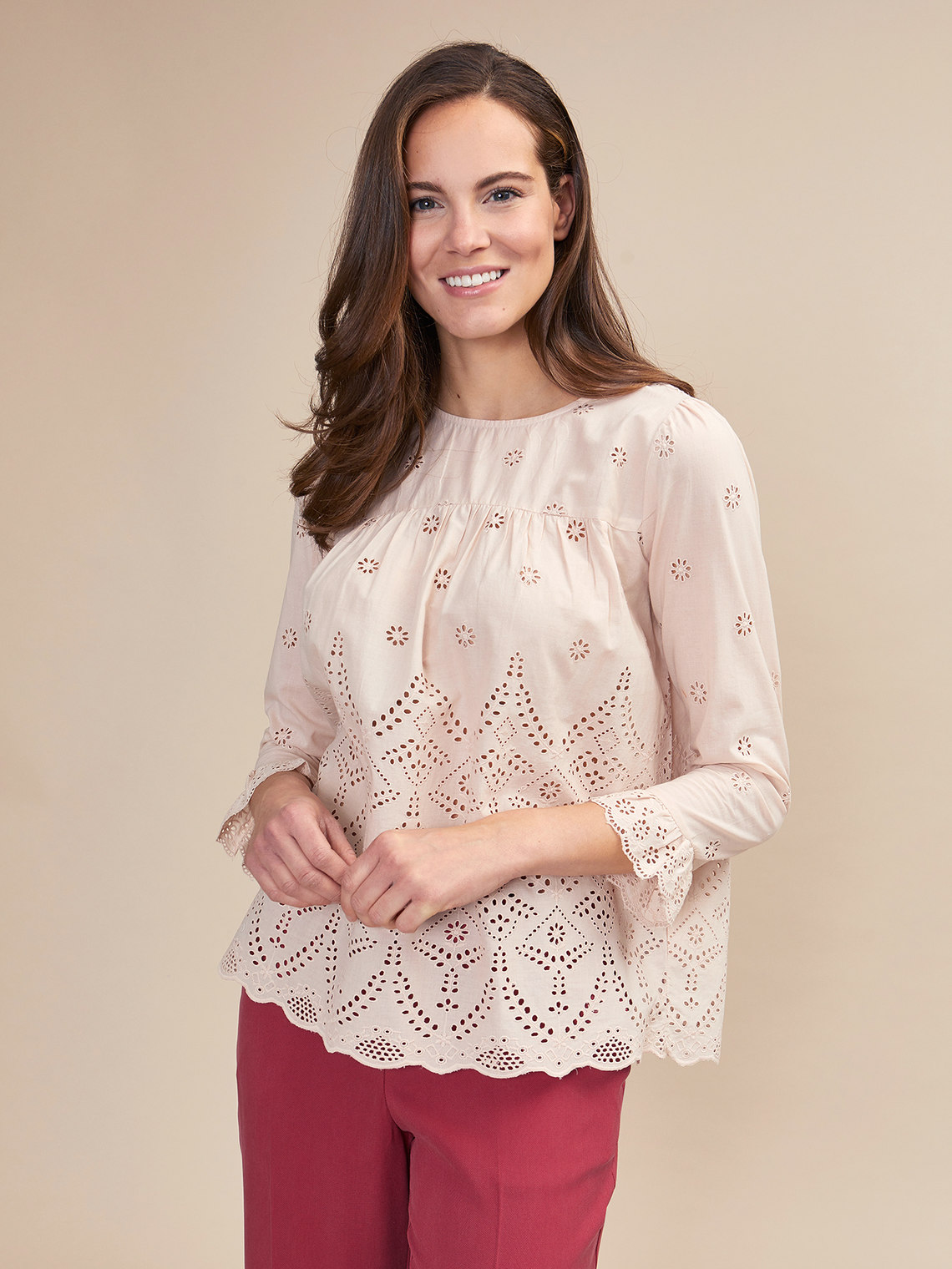 the latest 13adc 9401a Blusa in pizzo sangallo - Oltre.com - FR
