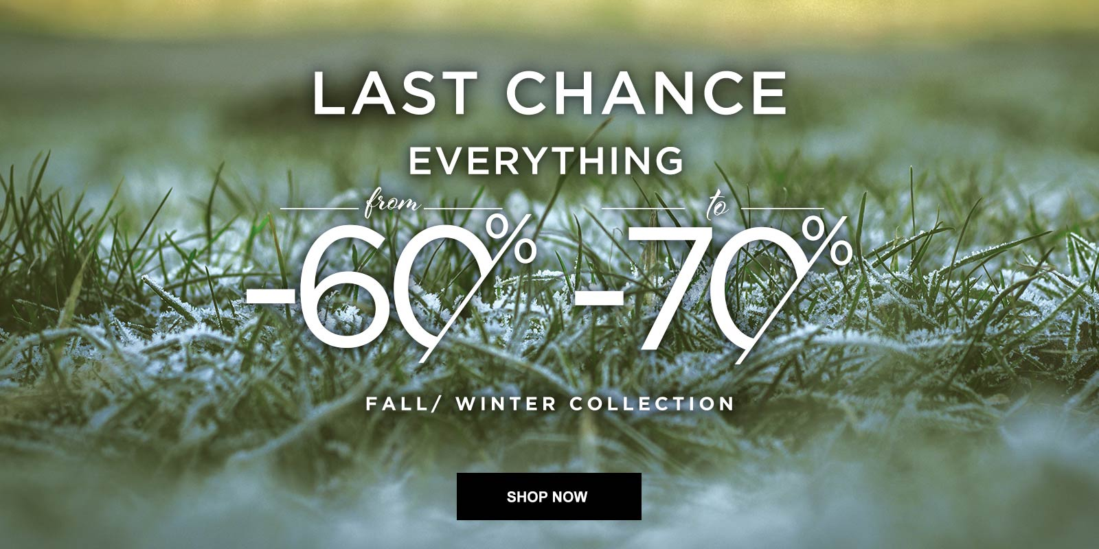 OLTRE: WINTER SALES EVERYTHING FROM 60% TO 70% OFF